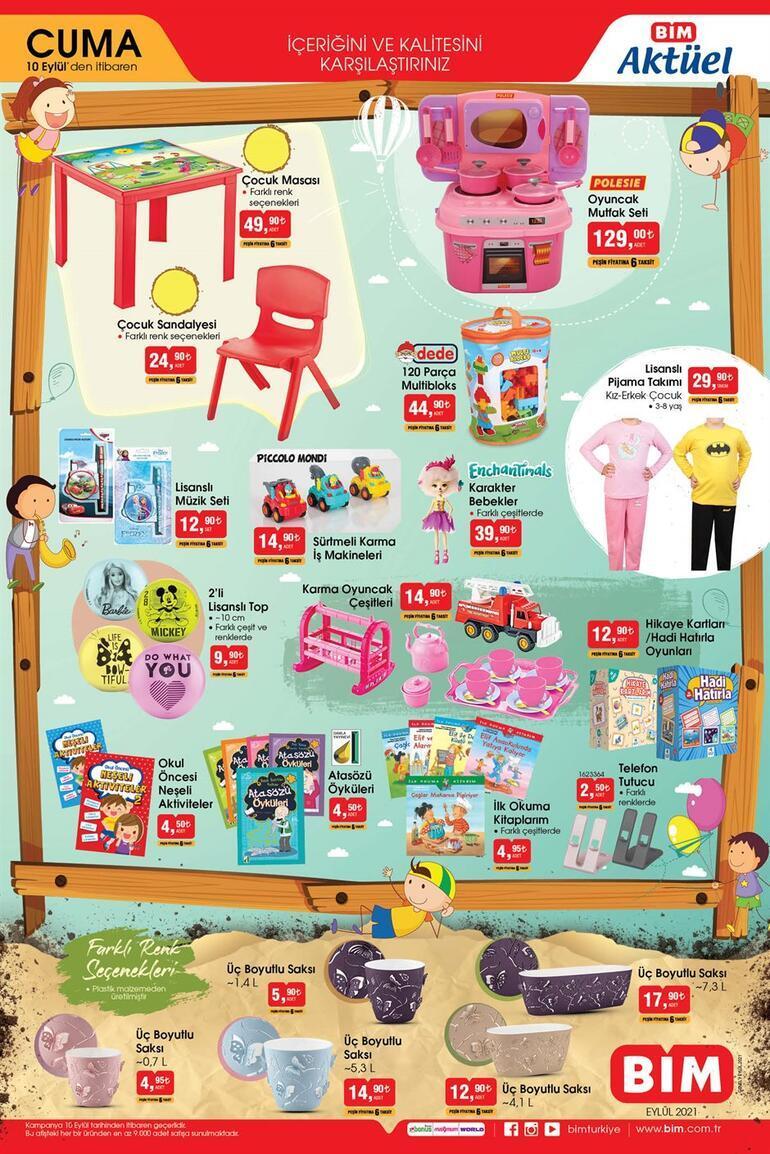 10 Eylül BİM aktüel ürünler kataloğu BİM mağazaları saat kaçta açılıyor/kapanıyor