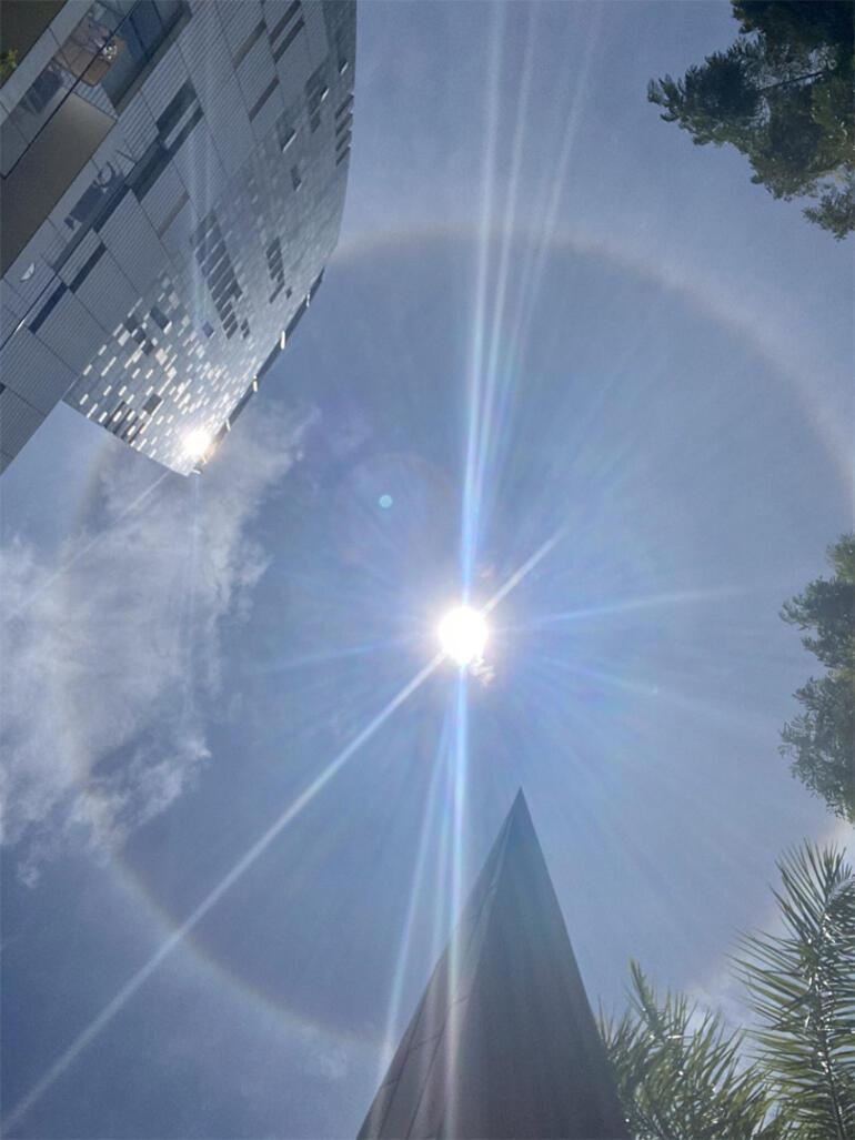 Güneşin etrafında gizemli bir ışık halkası görüldü