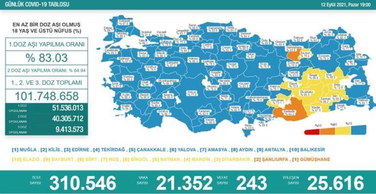Son dakika Türkiyenin koronavirüs tablosu belli oldu