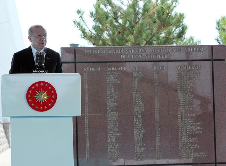 Son dakika Cumhurbaşkanı Erdoğandan Sakarya Zaferinin 100. Yıl Dönümünde net mesaj