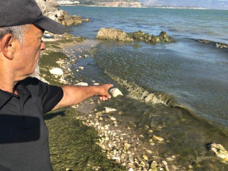Eğirdir Gölünü kirleten derin deşarj borusu kazıyla ortaya çıktı