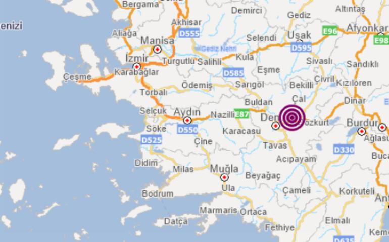 Son dakika: Denizlide korkutan deprem