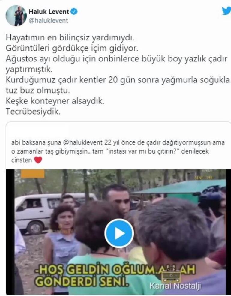 Haluk Leventin 17 Ağustos depremi pişmanlığı: Yardımlarda tecrübesizdik
