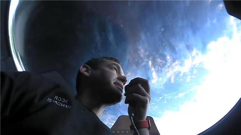 Elon Muskın projesindeki  uzay turistlerinden ilk görseller geldi