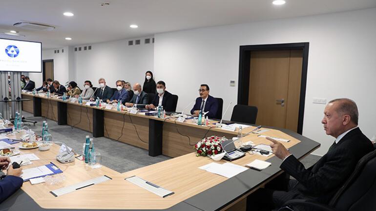 Cumhurbaşkanı Erdoğan, Akkuyu Nükleer Güç Santrali sahasında incelemede bulundu