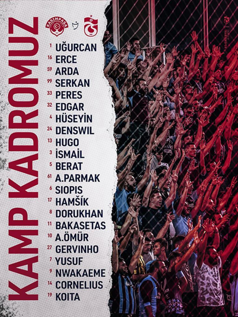 Son dakika - Trabzonsporun kamp kadrosu açıklandı 2 iyi haber