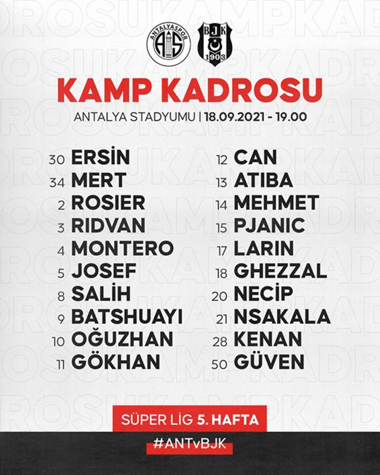 Son dakika - Beşiktaşta Antalyaspor öncesi kadroda 5 eksik