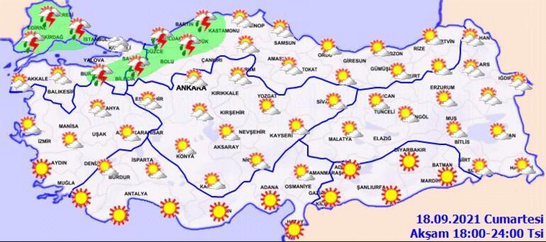 Son dakika... Meteoroloji uyardı Trakya ve İstanbulda akşam saatlerine dikkat