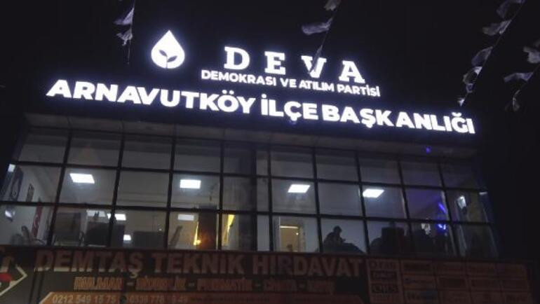 Arnavutköy Deva Partisi İlçe Başkanlığı kurşunlandı