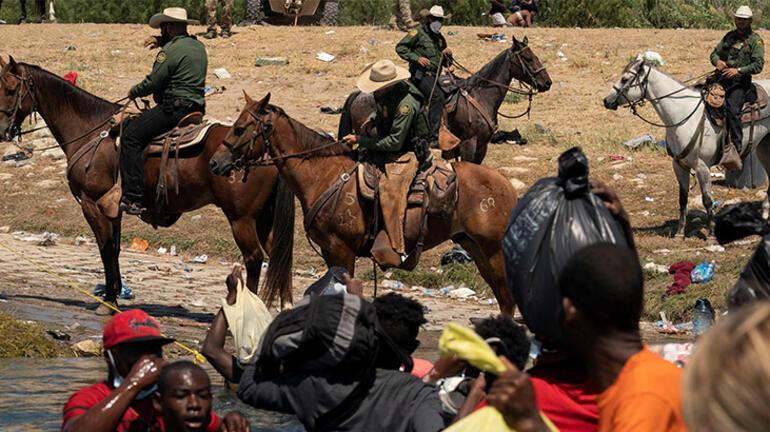 ABDli sınır muhafızlarından göçmenlere kementli saldırı
