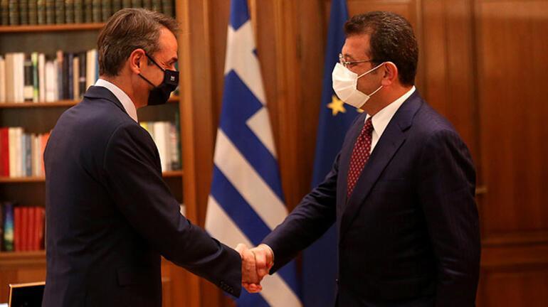 Yunanistan Başbakanı Miçotakis, İBB Başkanı İmamoğlunu kabul etti