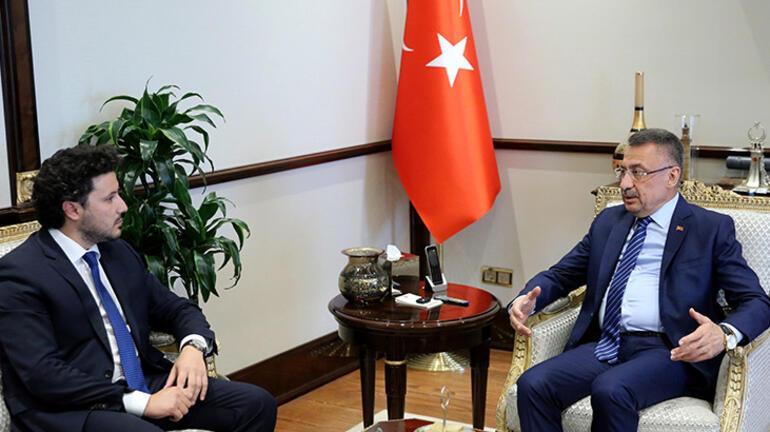 Cumhurbaşkanı Yardımcısı Oktay, Abazoviçi kabul etti