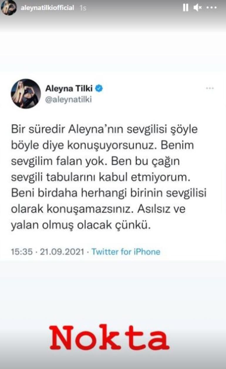 Aleyna Tilki: Bu çağın sevgili tabularını kabul etmiyorum