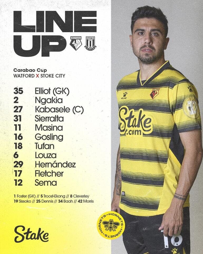 Watford - Stoke City: 1-3 | Ozan Tufan 90 dakika oynadı