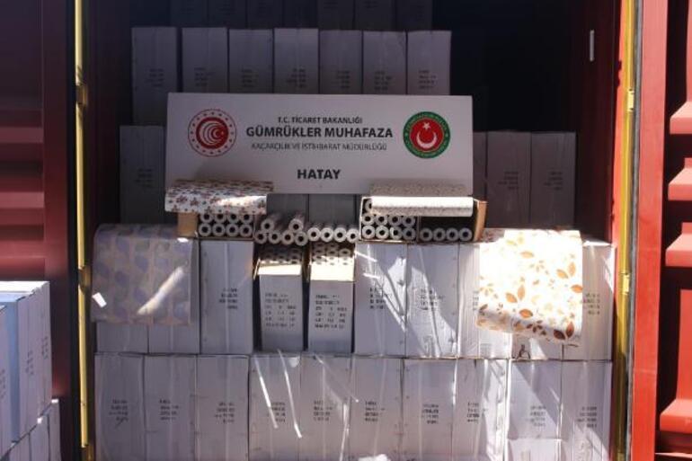 Hatayda 12,5 milyon liralık kaçak ticari ürün ele geçirildi