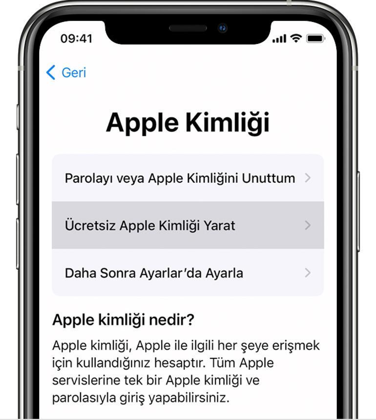 Apple Kimliği Oluşturma: Yeni Apple Kimliği Nasıl Oluşturulur