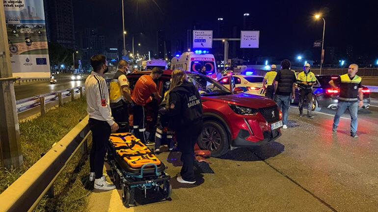 İstanbulda sabaha karşı zincirleme kaza: 2 yaralı var