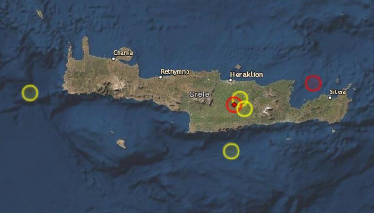 Son dakika... Yunanistanda 5.6 büyüklüğünde deprem