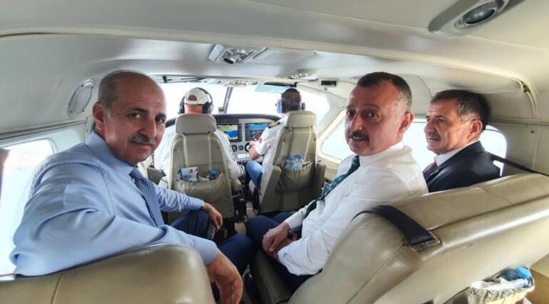 AK Parti Genel Başkanvekili Kurtulmuş, İzmit Körfezini havadan denetledi