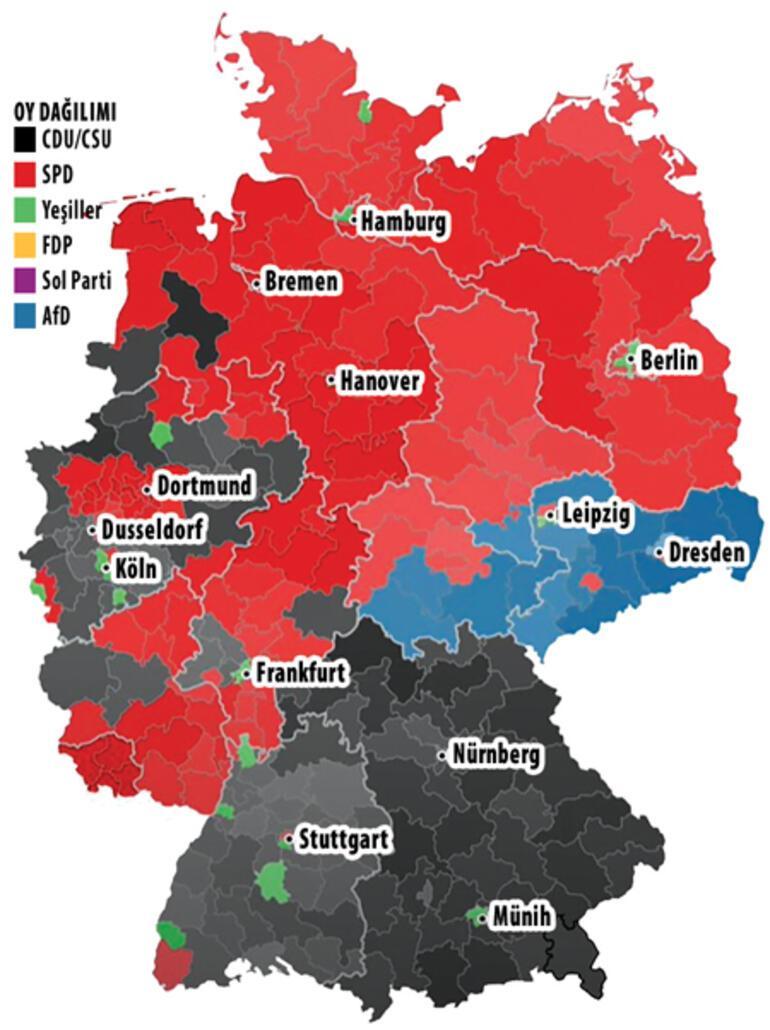 Almanya'nın geleceği bu iki partinin elinde