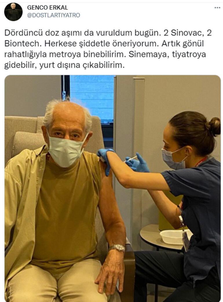 Genco Erkal dördüncü doz aşısını oldu