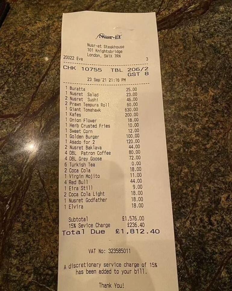 Londra Nusret'i konuşuyor Fiyatlara rağmen kuyruklar uzadı
