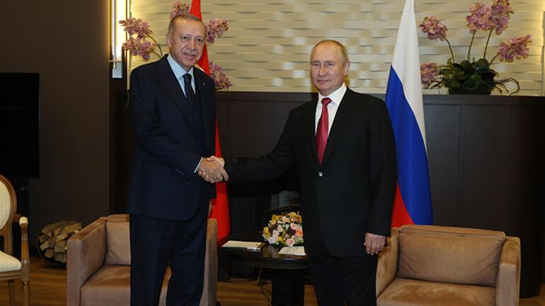 Son dakika... Görüşme sonrası Erdoğan ve Putinden peş peşe açıklamalar