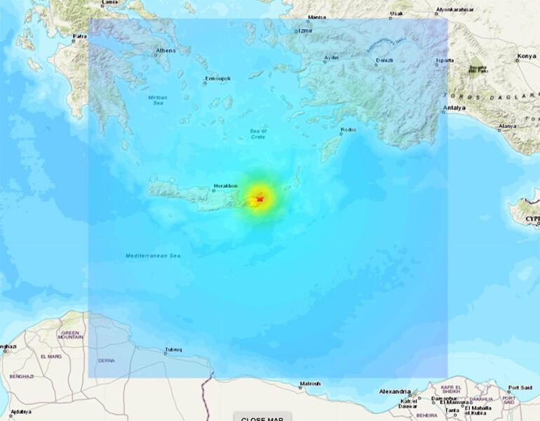 Son dakika deprem haberi: Giritte 6.3 büyüklüğünde deprem oldu