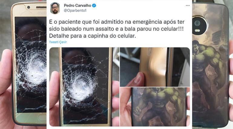 Hulk kılıflı telefon sahibini mermiden korudu, sosyal medyanın gündemine girdi