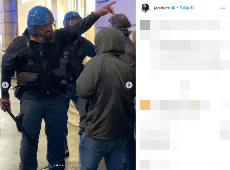 Jared Leto aşı karşıtı protestoda göz yaşartıcı gazdan etkilendi
