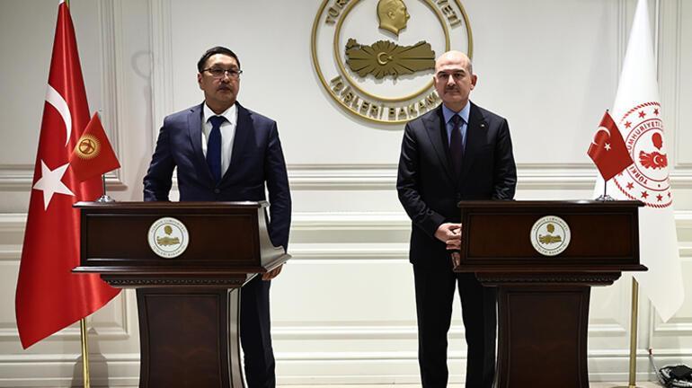 İçişleri Bakanı Soylu, Kırgızistan Acil Durumlar Bakanı Azikeev ile görüştü