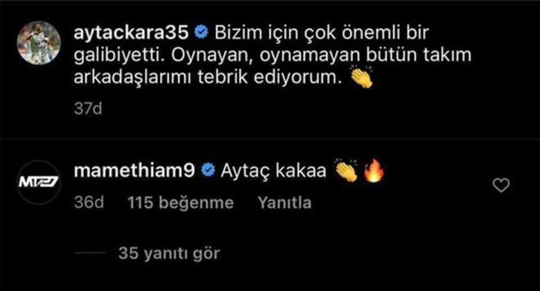 Fenerbahçeli Thiamdan olay Aytaç Kara yorumu