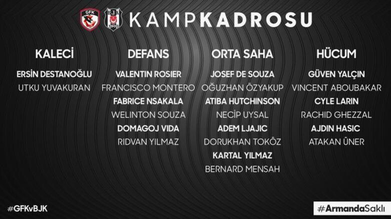 Son Dakika   Beşiktaşta Josef de Souza kadroya dahil edildi
