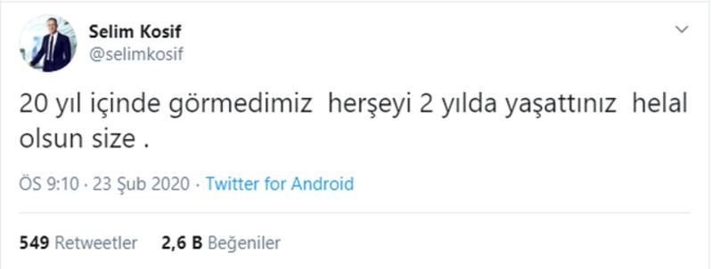 Fenerbahçeli eski yönetici Selim Kosiften tepki: Her şeyi 2 yılda yaşattınız helal olsun size