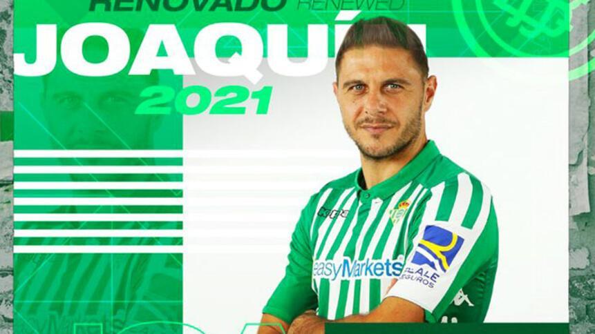 Joaquin 40 yaşına kadar Real Betiste İmzaladı...