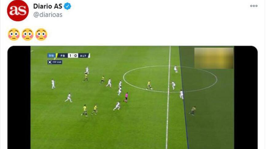 Fenerbahçe-Alanyaspor maçındaki VARın ofsayt çizgisi dünya gündeminde