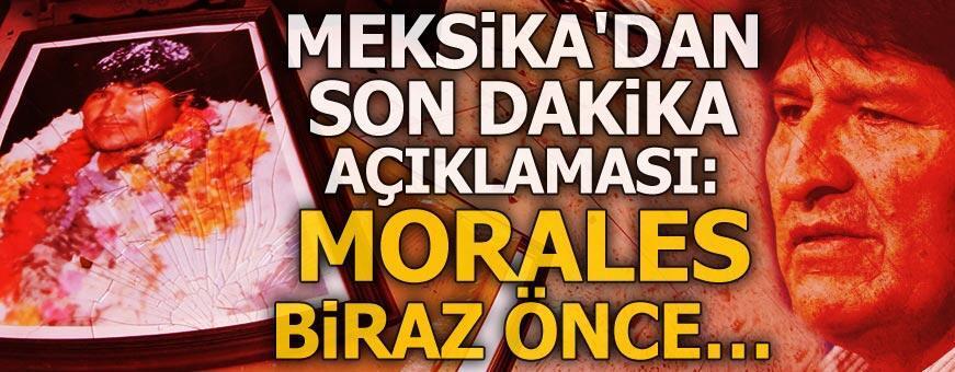 Meksika'dan son dakika açıklaması: Evo Morales biraz önce...
