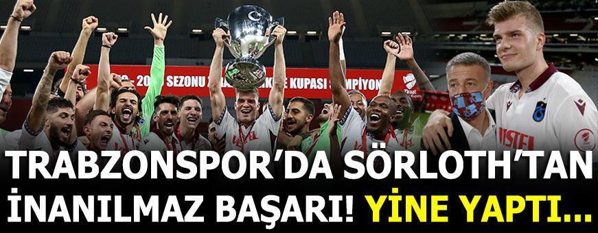 Şampiyon Trabzonspor'da Sörloth'tan inanılmaz başarı!