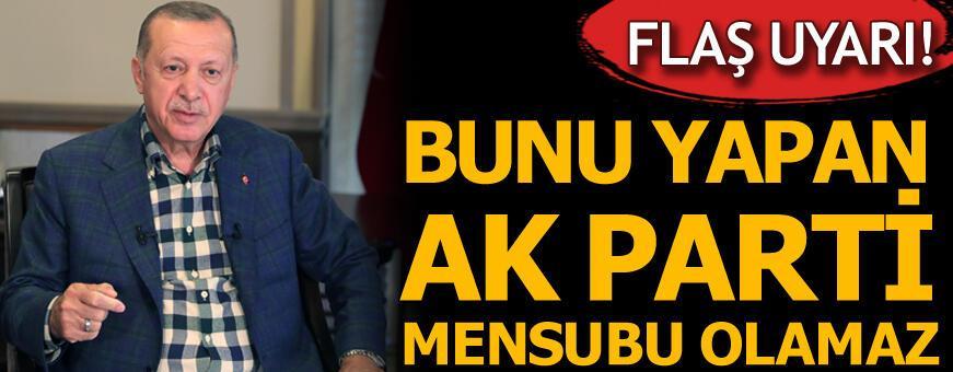 Bayramlaşma töreninde flaş uyarı! 'Bunu yapan AK Parti mensubu olamaz'