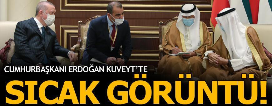Erdoğan Kuveyt'te! Sıcak görüntü