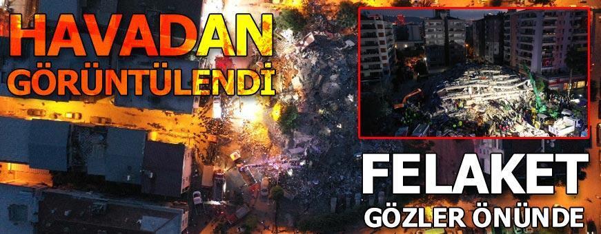 İzmir'de deprem! Korkutan görüntüler geliyor