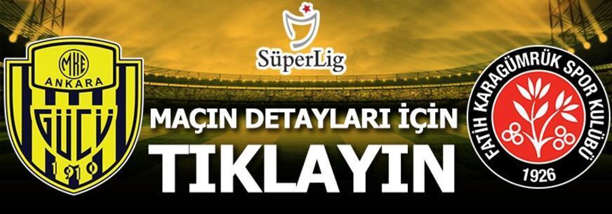 MKE Ankaragücü-Fatih Karagümrük: 2-2