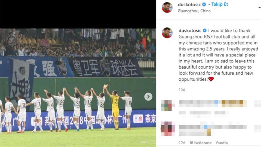 Son dakika | Dusko Tosic, Çinden ayrıldı Açıkladı...