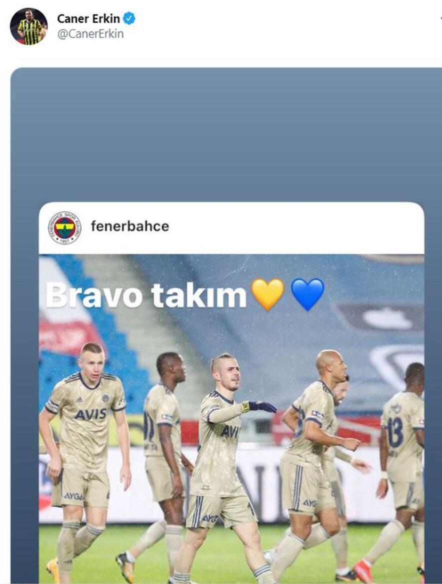 Son dakika   Trabzonspor - Fenerbahçe maçının ardından Caner Erkinden flaş paylaşım